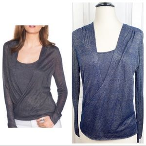 WHBM S Shimmery Lightweight Knit Sweater